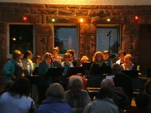 Unser Auftritt beim Flutlicht-Chor Dennach